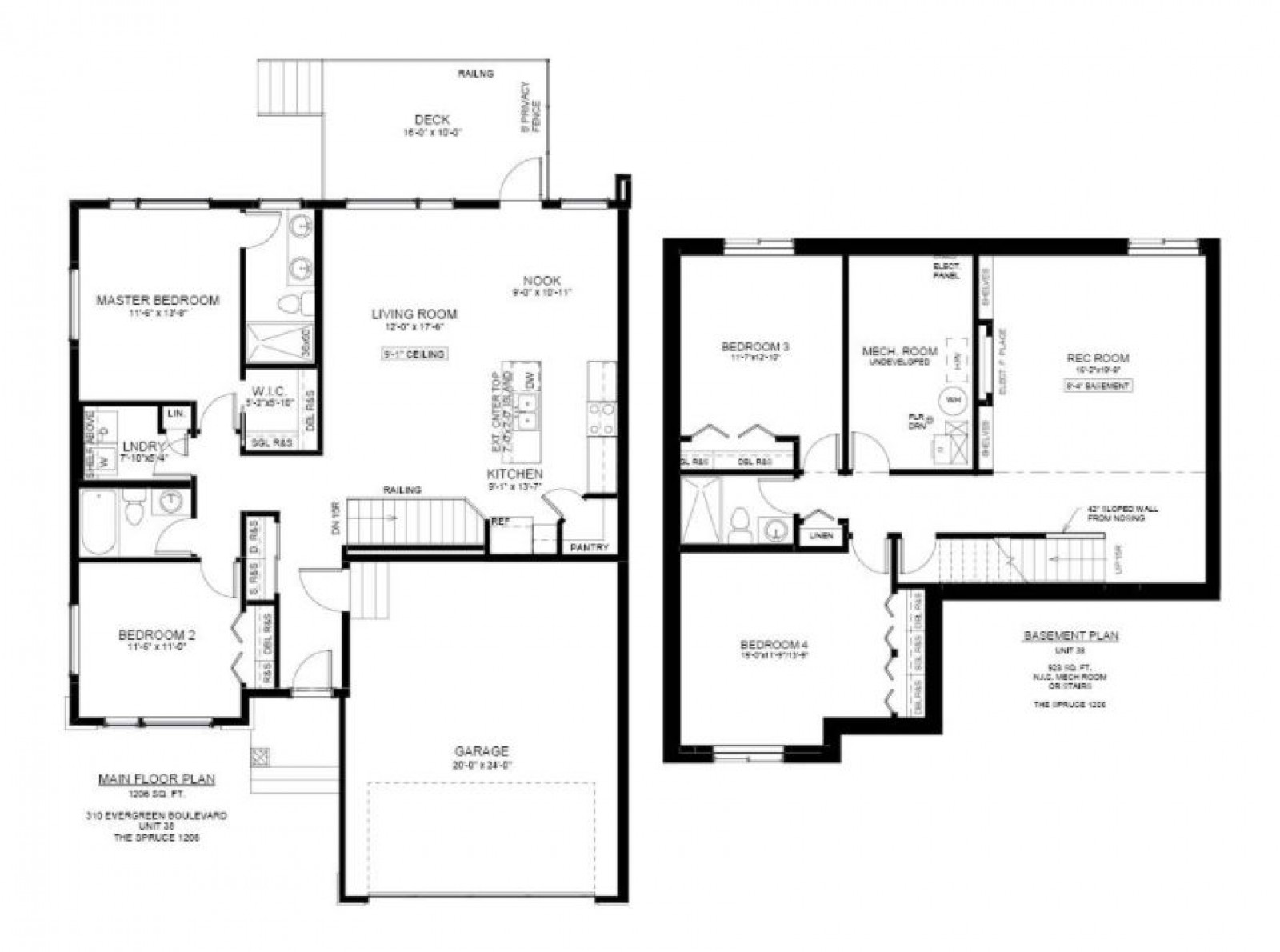 #38 – 310 Evergreen Boulevard Floor Plan