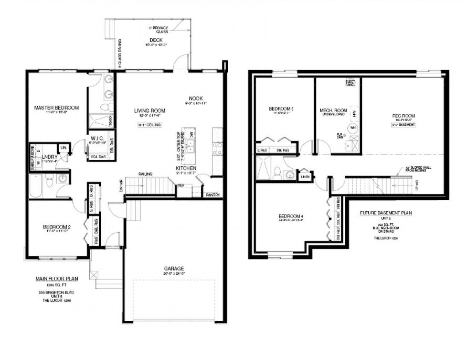 5-235 Brighton Blvd Floor Plan
