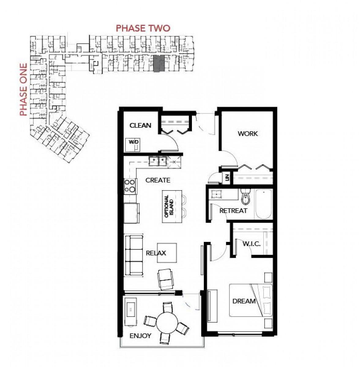 #106 – 105 Willis Crescent Floor Plan